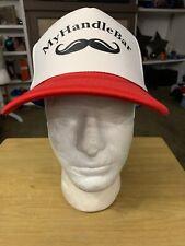 My Handle Bar Mustache Beard Statche Mesh SnapBack Trucker Hat Baseball Cap