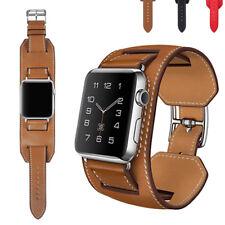 Cuff Leder Armband Ersatz Für iWatch Apple Watch Series 5/4/3/2 40/44/38/42mm DE