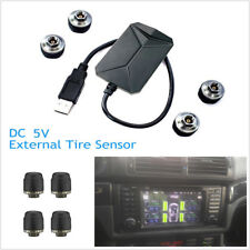 Car TPMS USB Tire Pressure Monitor Alarm System 4 External Sensor for Android ST
