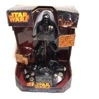"""Disney Star Wars Darth Vader Alarm Clock Radio Light Up Lightsaber 12"""" w/Adapter"""