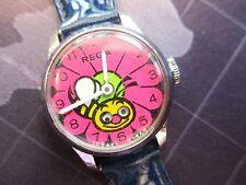 vintage rare rega bumble bee, moving eyes watch,,,,,israel made running