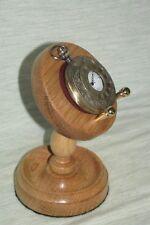 Reloj de bolsillo con soporte de madera exhibición Soporte Colgador Hecho a Mano Madera De Roble Claro o Oscuro