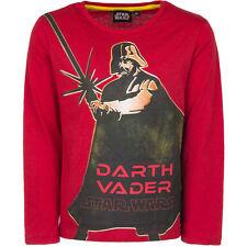 NUEVO Camisa Niños Star Wars Suéter Jersey negro rojo 104 116 128 140 #144