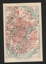 Landkarte city map 1925: Stadtplan: Danzig. Gdańsk Weichsel