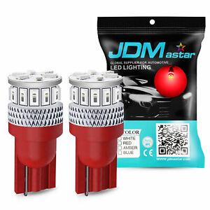 JDM ASTAR 4x Red T10 Wedge 5730 SMD 12V LED Marker Light Bulbs 194 168 2825 W5W
