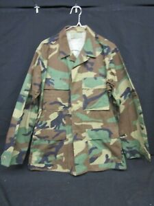U.S. Army Woodland BDU Hot Weather Combat Coat Sz Small-Regular - 1993