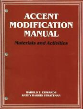 Accent Modification Manual : Materials and Activities by Harold T. Edwards...