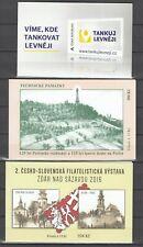 République tchèque, 2013/16 markenheftchen 780, 877, 880 **, (31525)