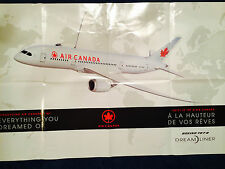 NEW Air Canada Boeing Dreamliner 787 Inflight Poster Canada Airlines