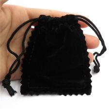 21289 6X Adjustable Mini Lace Velvet Jewelry Gift Bag Drawstring Pouches Black