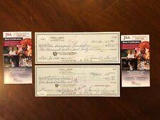 Rare JSA COA golf Hall of Famer Sam Snead lot of two hand signed checks