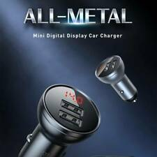 USB Car Charger Flush Fit Dual Port 24W/4.8A Output for iphone Samsung