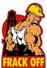 "3 - Frack Off Hard Hat Helmet Sticker ""Sons of Coal"" H920"