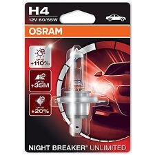 OSRAM NIGHT BREAKER UNLIMITED PLUS 110% H4 ampoule de phare (Unique) 64193NBU-01B