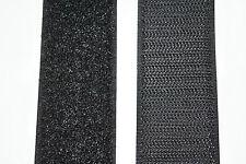 Klettband schwarz 40mm breit je 1m Klettverschluss Haken- und Flauschband