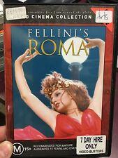 Federico Fellini's Roma ex-rental region 4 DVD (1972 Italian movie) RARE