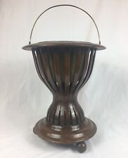 Antique Peat / Coal Bucket, Planter, Jardiniere Urn On Stand.