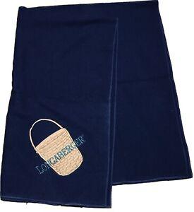 "Pearce LONGABERGER WOOLRICH Wool Blanket / Throw 60"" X 42"" Blue Brown USA B"