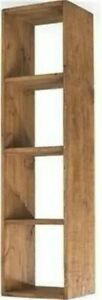 """""""any size made"""" SOLID WOOD CUBE BOOKCASE SHELF RUSTIC PLANK Indigo Furniture"""