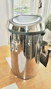 Brabantia Waste Bin Large 50L Round Touch Top Stainless Steel bin
