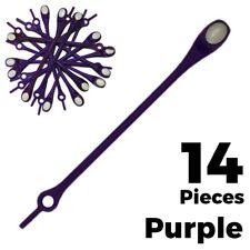 No Tie Elastic Silicone Purple Loop N Lock Shoelaces 14pcs Adult Sneaker