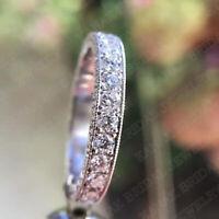 3.00 Ct Round Cut Diamond Wedding Band Ring For Women's 14k White Gold Finish