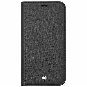Montblanc Sartorial Flip Side Cover 2cc Black für Apple iPhone 12 Mini, 128656