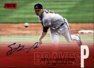 2018 Topps Stadium Club Autograph Red Foil #SCA-SN Sean Newcomb AUTO 4/50 Braves