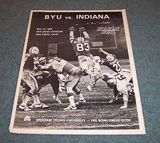 BYU Cougars vs Indiana 1979 Holiday Bowl Football Media Guide
