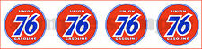 1.5 INCH UNION 76 GASOLINE DECAL STICKER SHEET (4)