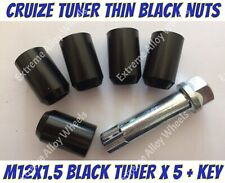 Alloy Wheel Nuts BLK Tuner x 5 M12x1.5 Toyota Lite ace Masterace Mr2