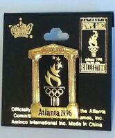 AUTHENTIC OLYMPIC GAMES ATLANTA 1996 COLLECTION OLYMPIC 100 TORCH LAPEL PIN