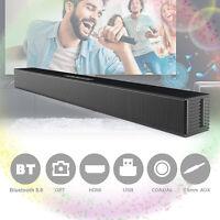 Home Bluetooth Sound Bar Theater Soundbar Speaker System Builtin Subwoofer 40W