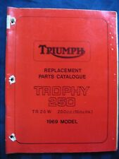 Triumph Parts Catalogue Original Manual 1969 TR25 TR 25 W Trophy 250