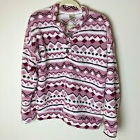 Como Vintage Women's Top Size Large Fuzzy Cozy Pullover Purple White Casual