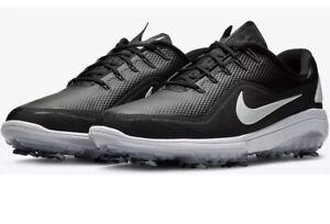 Nike React Vapor 2 Mens Golf Shoe Size 9.5 Black-Metallic White BV1135 001 NEW