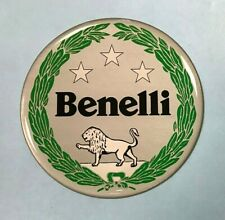 Benelli Motorcycles sticker/decal 60mm HIGH GLOSS DOMED GEL - Badge - Garland