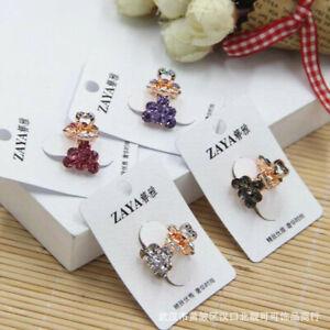 2 Pcs Rhinestone Mini Hair Clip Small Gripping Diamond Claw Womens Accessories