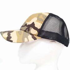 Desert Camouflage Camo Fishing Hunting Baseball Peak Peaked Half Mesh Cap Hat