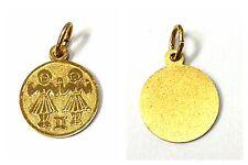 CIONDOLO IN ORO 333 oro segni zodiacali Gemelli Ciondolo Gioielli ORO