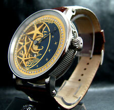 luxury Mens Gift Deco Skeleton Watch Antique 1892 Chronometer Large Steel Case
