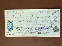 b1u ephemera cashed barclays bank cheque 1947 july 62234 bb aspell