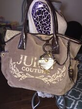 JUICY COUTURE SCTOTTIE BLING DAYDREAMER VELOUR BAG/TOTE
