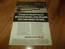 AKAI AX80 SYNTHESIZER-1986 magazine advert