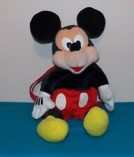 "Disney For Kids Mickey Mouse Plush Backpack 18"" Inches Pre-Owned Adj Straps"
