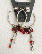 Pilgrim Jewelry Swarovski Crystal  Sterling silver Plated Hoop Earrings $10.95