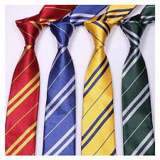 Boys Girls Striped Ties Hogwarts Four Necktie Harry Potter Style Students Speech