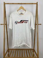 VTG 90s ESP International Short Sleeve White T-Shirt Size XL USA