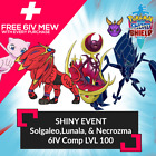 ✨SHINY✨ 6IV SOLGALEO LUNALA & NECROZMA W/ FREE MEW Pokemon Sword Shield