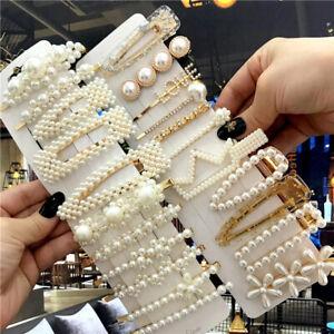 12Pcs/set Pearl Hair Clip Barrettes 2021 Fashion for Women Hairpins Accessories